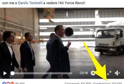 L'aereo di Renzi